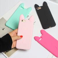 苹果6 plus手机壳iphone5s/4s/5c/SE可爱硅胶套苹果7卡通猫耳外壳