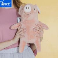 羞羞兔 新款小猪约翰充电热水袋双插手电暖宝暖水袋暖手宝