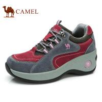 camel骆驼户外女鞋 春季新款 休闲徒步鞋女牛皮户外耐磨登山鞋时尚运动女鞋