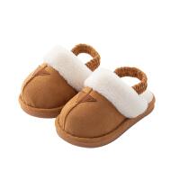宝宝棉拖鞋男1-3岁秋季防滑儿童室内家居鞋