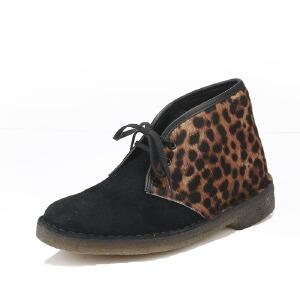 Clarks/其乐女鞋2017秋冬新款真皮经典复古沙漠靴Desert Boot.专柜正品直邮