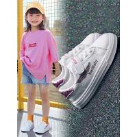 童鞋女童鞋子小学生板鞋男童鞋透气运动鞋夏季儿童小白鞋