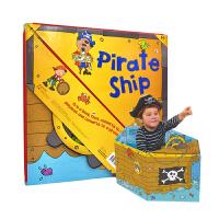 【首页抢券300-100】Convertible Pirate Ship 变形大冒险车书 海盗船 可组装立体变形折叠玩具