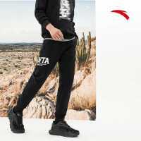 【到手价155】安踏官网男裤运动裤春季2021新款针织跑步裤小脚收口裤152118321