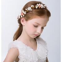 新年时尚儿童礼服配饰演出饰品 儿童花童花环手环头饰女童发饰