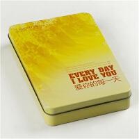 铁盒装明信片卡片《爱你的每一天》情人节礼物 50张圆角四款封面