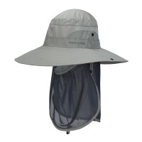 诺诗兰钓鱼帽男女2020夏季新款防晒速干透气防蚊虫大檐帽A090001