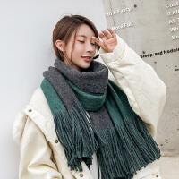 围巾秋冬季女士韩版百搭双面仿羊绒流苏披肩两用加厚学生保暖日系
