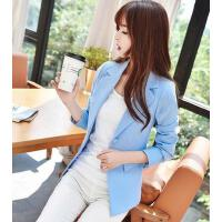 女小西装 外套女 新款韩版修身大码小西装外套女士时尚修身甜美显瘦长袖