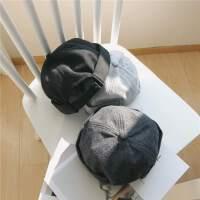 秋冬青年新款瓜皮帽地主帽英伦风包头西瓜纯色男士圆帽子圆顶复古