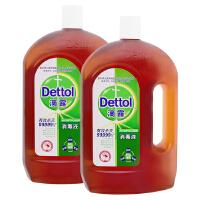[当当自营] 滴露(Dettol)消毒液 1.8L+1.8L两瓶实惠装 共3.6L大包装 家居衣物消毒除菌液抑菌液