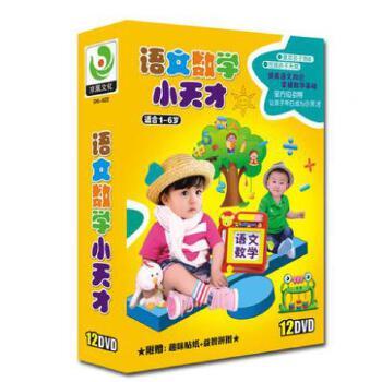 幼儿童早教材汉语拼音小学语文数学DVD光盘 学数数幼儿识字dvd碟12张DVD 动画演示教学