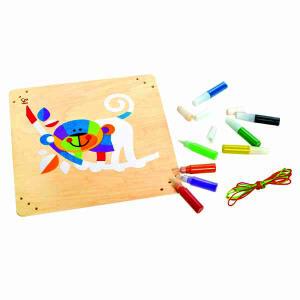 【特惠】Hape沙画-顽皮小猴3-6岁益智早教创意绘画手工DIY玩具E5115
