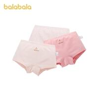 巴拉巴拉女童内裤平角女童短裤中大童小童亲肤舒适可爱3条装