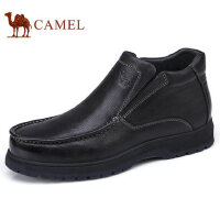 camel 骆驼男鞋 秋冬新品商务休闲加绒保暖真皮商务靴男士皮鞋