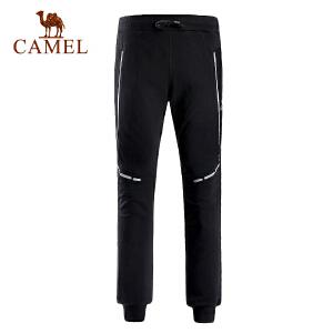 camel骆驼运动男款针织长裤 弹力透气舒适面料时尚运动裤