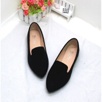 新款春秋欧美尖头单鞋孕妇大码女鞋41-42-43-44小码31-33