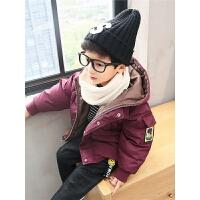 男童冬装儿童棉袄中大童外套中长款棉衣