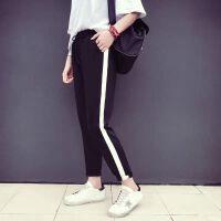 春秋季运动裤女学生韩版原宿bf风潮薄款宽松超火的束脚裤