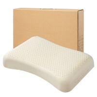 天然乳胶枕头原装护颈颈椎枕枕芯 橡胶记忆枕头透气健康 波浪护颈乳胶枕(礼盒装) 带内外套