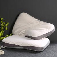 泰国乳胶枕头学生护颈椎记忆枕芯家用单双人家用枕一对拍二 乳胶颗粒枕-灰色 40x60cm 单只装