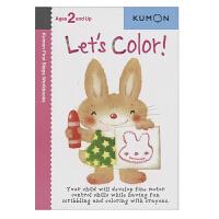 Kumon Let's Color 公文式教育 涂一涂 打造天才大脑的益智手工 幼儿英语启蒙教辅 儿童英文原版进口图书
