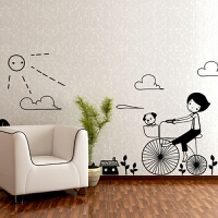 创意简约可移除墙贴客厅电视背景墙沙发装饰贴画卧室温馨贴纸壁画