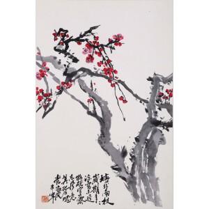 著名画家 于希宁《红梅》
