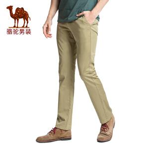 骆驼男装 2017春季新款时尚修身小 脚休闲裤青年商务休闲长裤子男