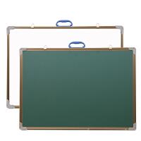 50*70磁性双面家用儿童绿板挂式小黑板白板教学留言粉笔写字黑板