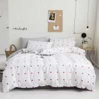 全棉斜纹北欧风格被套纯棉床单四件套