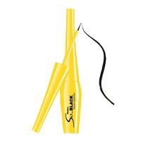 泰国Mistine粉饼底妆3d眉笔系列 so black黄盒浓黑眼线液4.5g