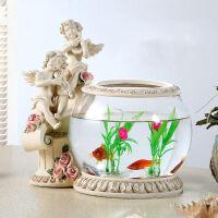 御目 鱼缸 创意鱼缸饰品结婚礼物树脂工艺品摆件新婚房家居装饰品满额减限时抢礼品卡创意家饰