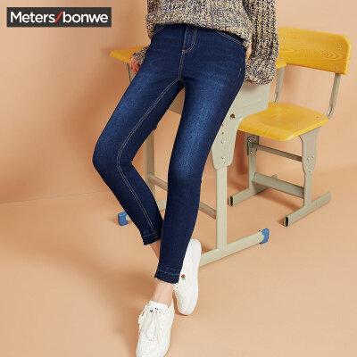 Meters bonwe 美特斯邦威 604019 女士修身牛仔裤 59.7元