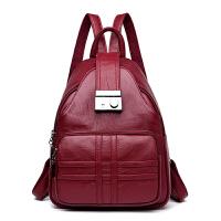 女士双肩包女包新款韩版时尚百搭简约休闲软皮防盗旅行小背包