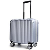2018新款商务旅行箱铝框拉杆箱防划密码万向轮男出国行李箱女18寸登机箱 18寸