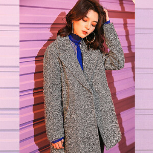 毛呢大衣女中长2018秋冬装季新款韩版宽松学生小个子妮子呢子外套