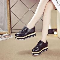 20190922204215478内增高女鞋2019秋季新款松糕鞋女鞋子女学生厚底单鞋布洛克女鞋
