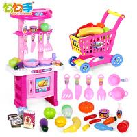 勾勾手儿童过家家玩具 女孩做饭过家家厨房玩具宝宝厨具餐具套装