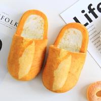 创意仿真日本吃货面包吐司冬季软底防滑棉拖鞋记忆海绵鞋底萌