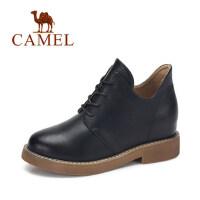 camel 骆驼女鞋 冬季新款 帅气英伦范短靴子女 简约系带靴子