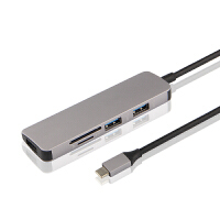TYPE-C转USB扩展坞OTG转换器 三星Tab S4平板转接头T830/T835C电脑HUB连 银灰色【TYPE-