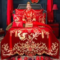 婚庆四件套结婚床上用品大红色床单全棉新婚房喜被纯棉被子