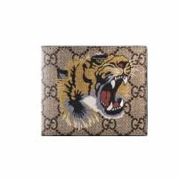 Gucci古驰男士动物图案印花短款钱包 4510268 蜜蜂图案 11*9cm