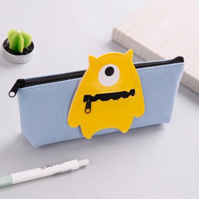韩国可爱小清新笔袋创意简约初中小学生新铅笔盒女生大容量文具用品
