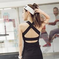 女士吊带背心夏季棉质汗衫内衣紧身运动健身打底衫