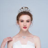 皇冠头饰新娘森系超仙结婚婚纱配饰项链三件套公主冠