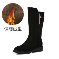 №【2019新款】冬天穿的雪地靴女棉靴子加绒棉鞋防水中筒靴冬