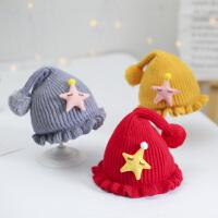 婴儿帽子秋冬季宝宝毛线帽婴幼儿针织帽