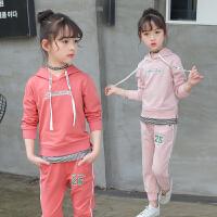 女童秋装运动套装小学生女孩时尚潮衣